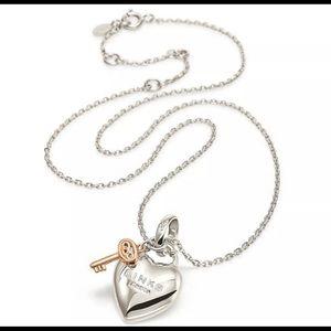 Links Of London Heart Padlock Love Necklace - NEW